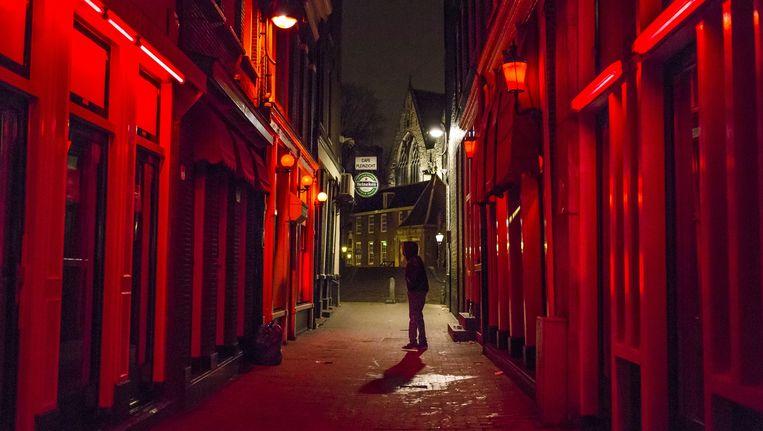 Prostitutieramen in het Amsterdamse Wallengebied. Beeld Marc Driessen