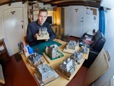 Damian kan in expositie pronken met zijn acht Vordense kasteelmodellen: 'Ik werd zelfs in Apeldoorn een keer herkend'