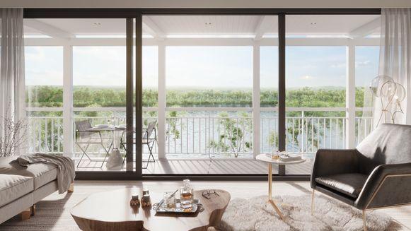 Vanuit de woningen heb je een prachtig zicht op het Duinenwatermeer.
