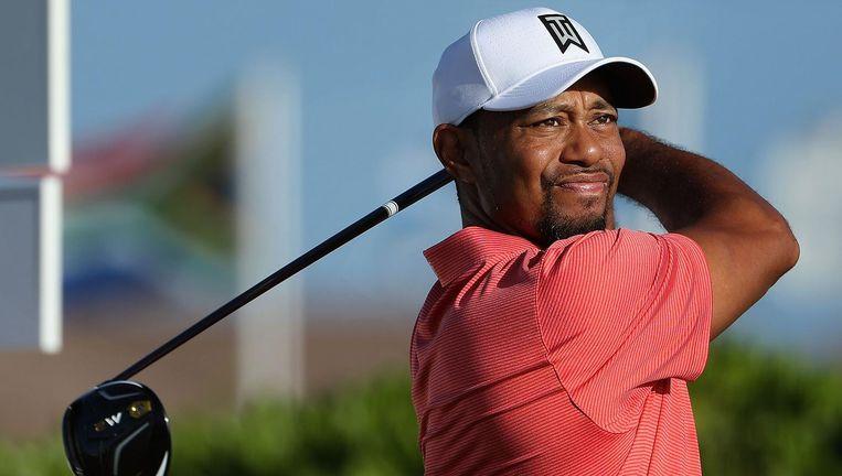 Tiger Woods in actie. Beeld afp