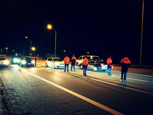 De controleactie van de politie in Arendonk.