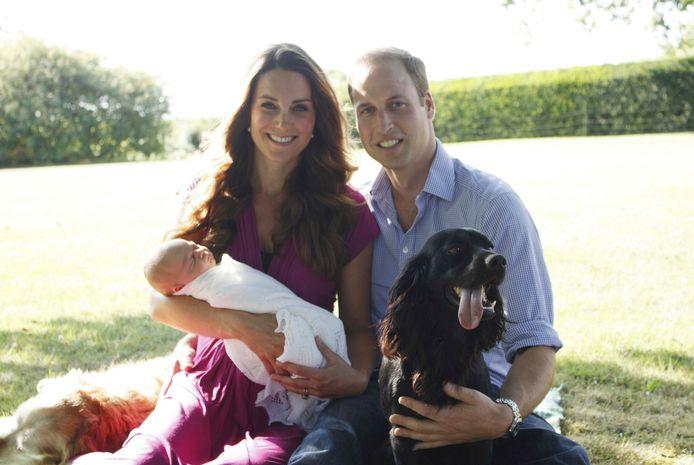 De Britse royals poseerden regelmatig met Lupo.