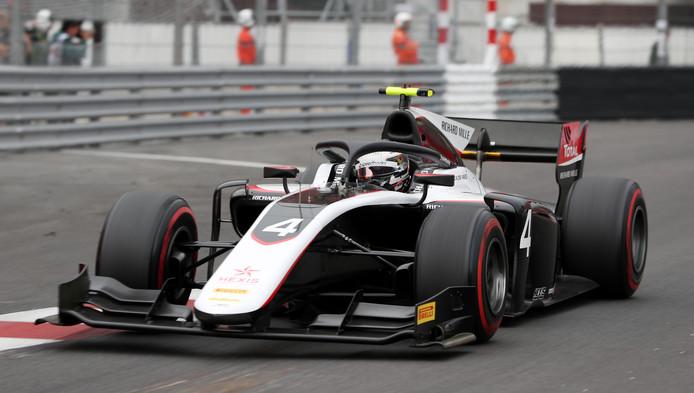 Nyck de Vries tijdens de race in Monaco.