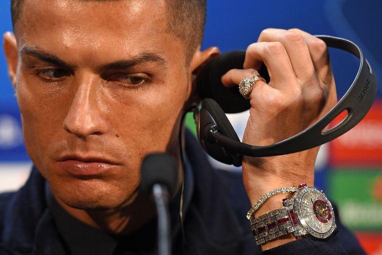 CRISTIANO RONALDO's horloge van Franck Muller, aangepaste versie met naar verluidt 424 diamantjes € 1.500.000