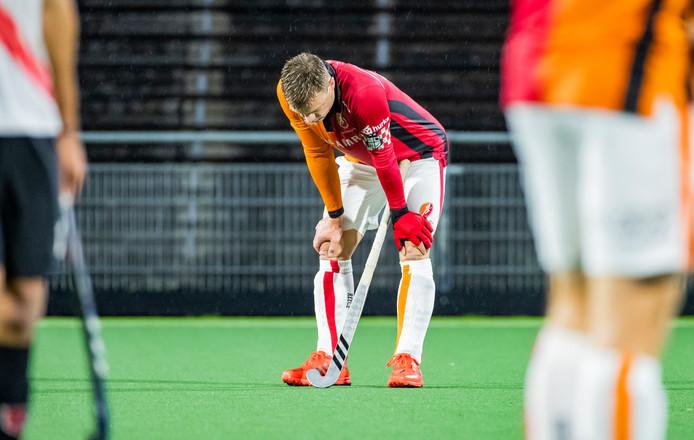 Teleurstelling bij Mink van der Weerden na de nederlaag tegen Amsterdam.