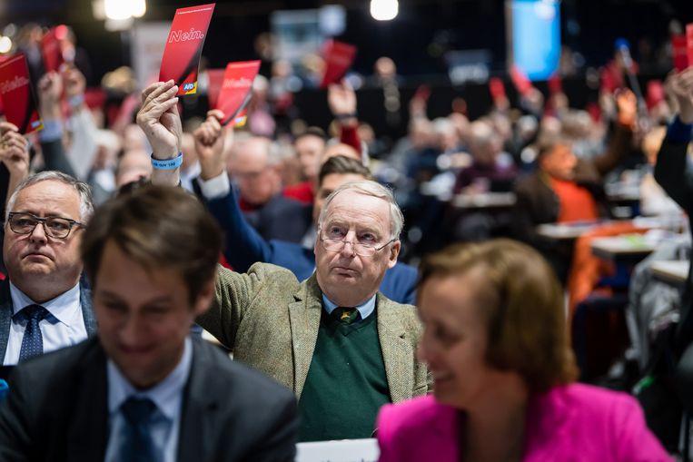 Alexander Gauland van de rechtse partij AfD noemde de nazi-tijd vorig jaar een 'vogelpoepje op duizend jaar succesvolle Duitse geschiedenis'. Beeld Getty Images