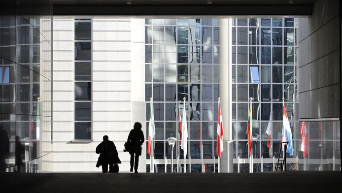 Het hoofdgebouw van de Europese Commissie in Brussel.