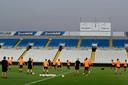 PSV trainde woensdagavond in het GSP-stadion in de Cypriotische hoofdstad Nicosia.