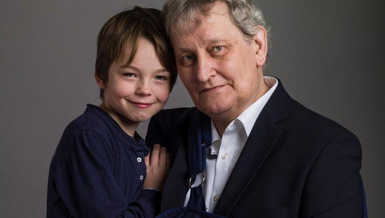 Eberhard van der Laan met zoon Edze, 2017 Beeld Koos Breukel
