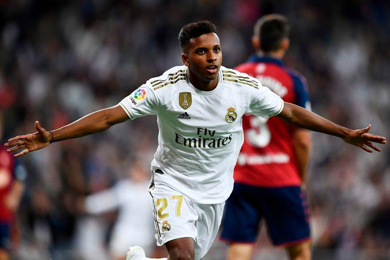 Rodrygo scoorde bij zijn debuut.