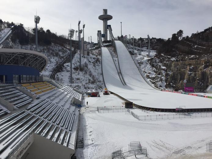 De locatie voor het schansspringen voor de komende Winterspelen.