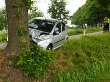 Vrouw gewond door frontale botsing tegen boom in Beltrum