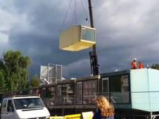 Laatste spaceboxen weggetakeld op Kleine Koppel Amersfoort