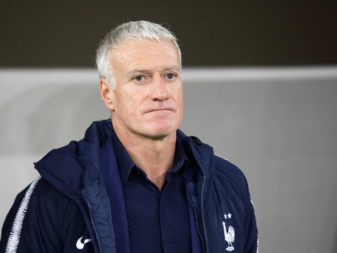 Didier Deschamps tijdens Albanië - Frankrijk vorige maand.