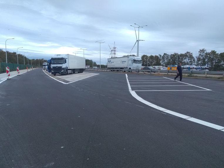 De parking richting Nederland is vorig weekend al vernieuwd.