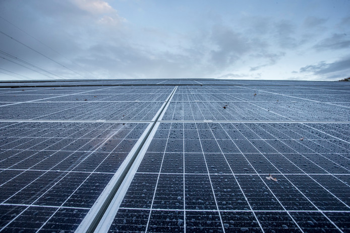 Het zonnepark in Hoge Hexel moet 8 hectare groot worden.