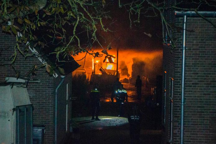 Fikse brand in een schuur in Bemmel.