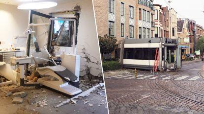 Tram ontspoort en rijdt in gevel in Antwerpen: vijf gewonden