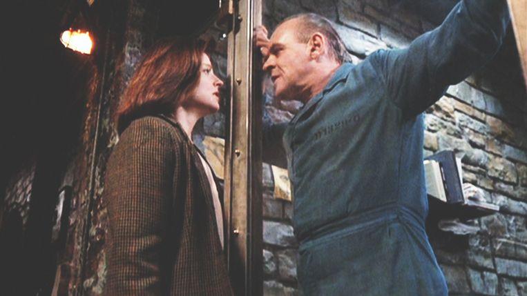 Jodie Foster en Anthony Hopkins in 'The Silence of the Lambs' van Jonathan Demme. Beeld