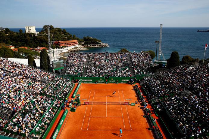 Court Rainier III in Monte Carlo, waar Rafael Nadal speelt tegen Grigor Dimitrov.