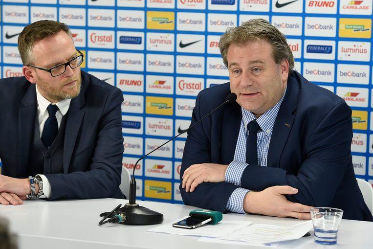 Erik Gerits (rechts) naast Peter Croonen (links).