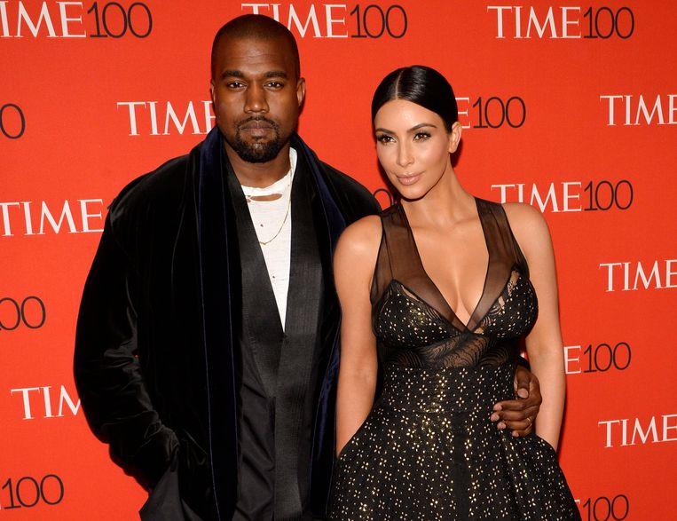 Kanye West en zijn vrouw Kim Kardashian.