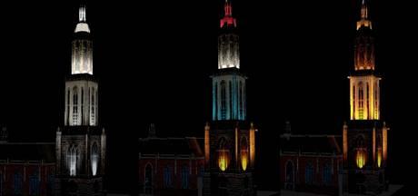 Cuneratoren in Rhenen kleurrijk verlicht