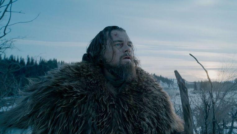 Leonardo DiCaprio als Hugh Glass in The Revenant. Beeld