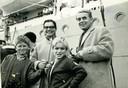 Gerard, Agaath, Paul en Bob Melman bij vertrek vanuit Australië terug naar Nederland. September 1968.