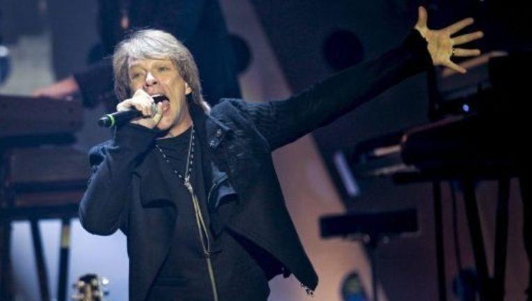 Bon Jovi tijdens de MTV European Music Awards in Madrid, november 2010. EPA Beeld