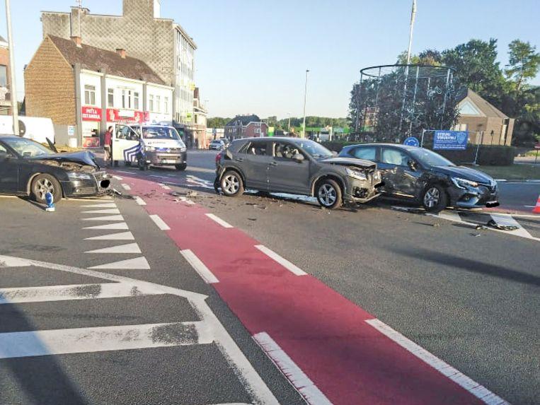 Het ongeval gebeurde op het Rondplein.