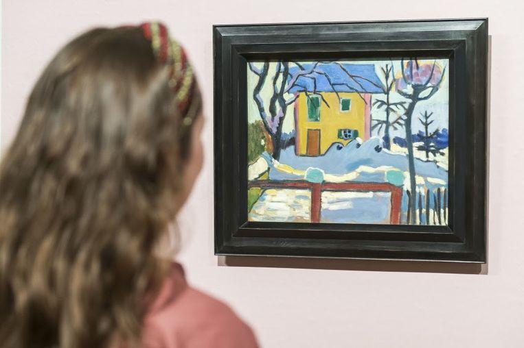 Gabriele Münter, Huis in de winterzon, 1909. Beeld Van Gogh Museum (aankoop met steun van de BankGiro Loterij). Foto: SeeItYourself / Jan-Kees Steenman