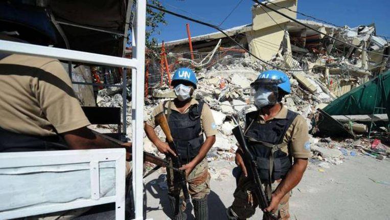 Vredesmilitairen van de Verenigde Naties in Port-au-Prince, de hoofdstad van Haïti.