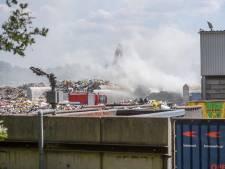 Brand bij Baetsen Recycling in Son