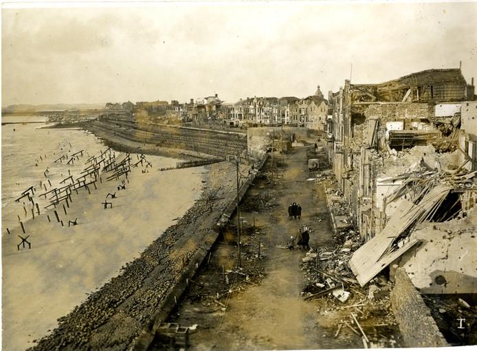 De Boulevard van Vlissingen werd zwaar getroffen tijdens de Slag om de Schelde