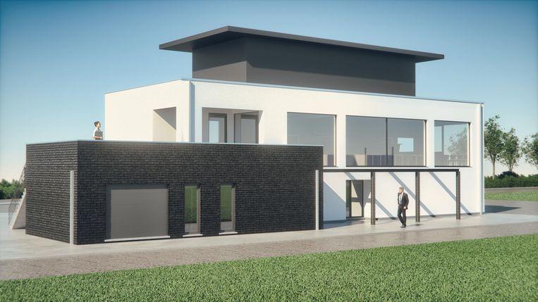 Een impressie van hoe het clubhuis van rugbyclub Rhinos er moet gaan uitzien.