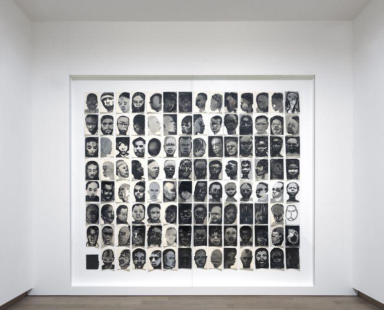 Black Drawings, 1991-1992, Marlene Dumas. Beeld null