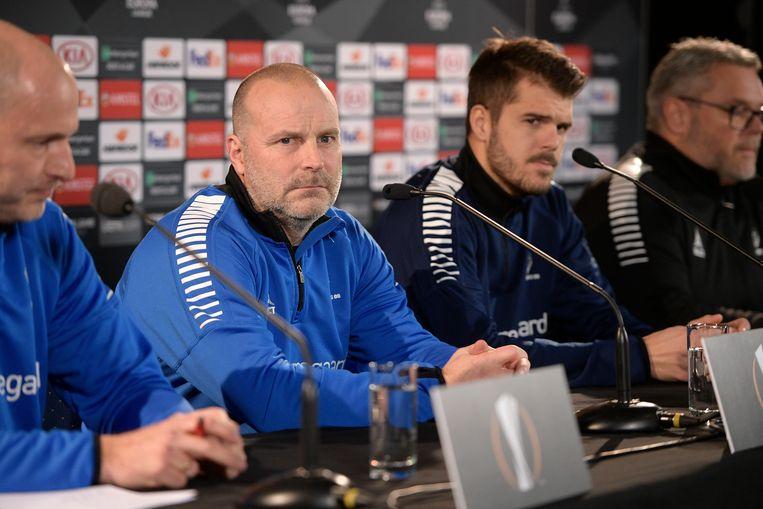 Joachim Thomassen naast coach Geir Bakke.