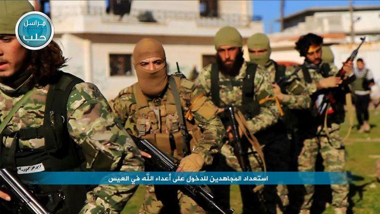 Een foto op de Twitterpagina van al-Nusra toont leden van de aan al-Qaida gelinkte beweging.