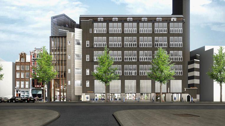 Artist impression van het gebouw. Beeld Kroonenberg Groep