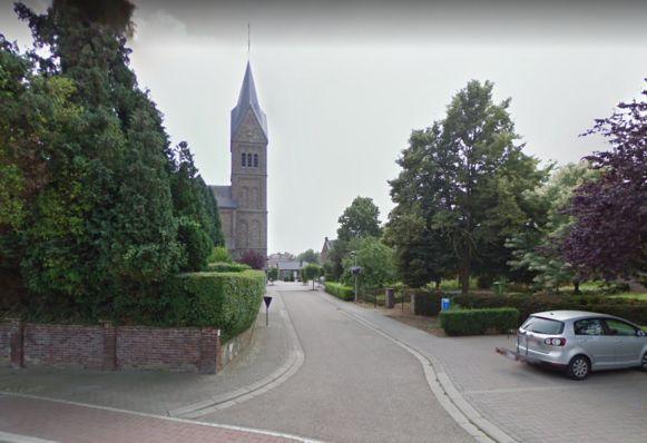 De kerk in Veldwezelt.