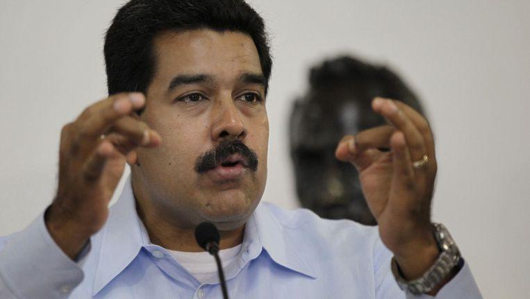 De Venezolaanse president Maduro. Beeld ap