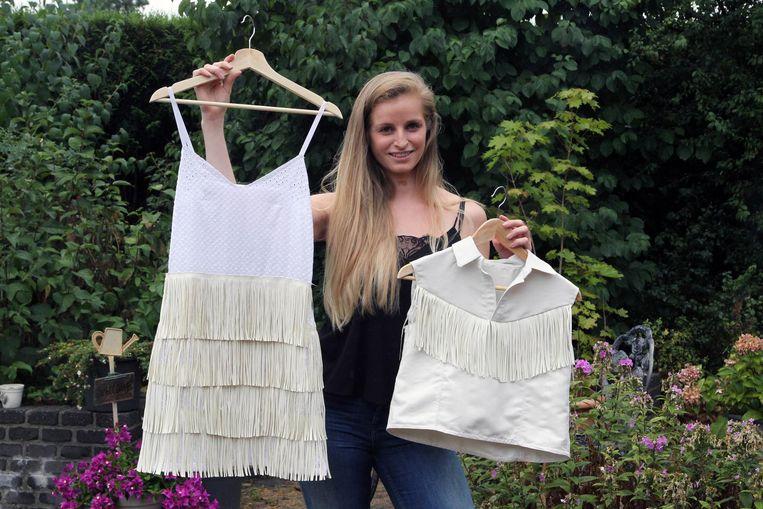 Modeontwerpster Jalina Van Loo maakt een festivaljurkje voor haarzelf en voor zes vriendinnen.