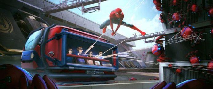 De nieuwe Spider-Man-attractie.