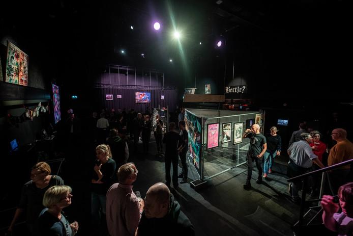 De expositie over 50 jaar Doornroosje, deze week in de paarse zaal van de poptempel, vanaf vandaag te zien in de Lindenberg.