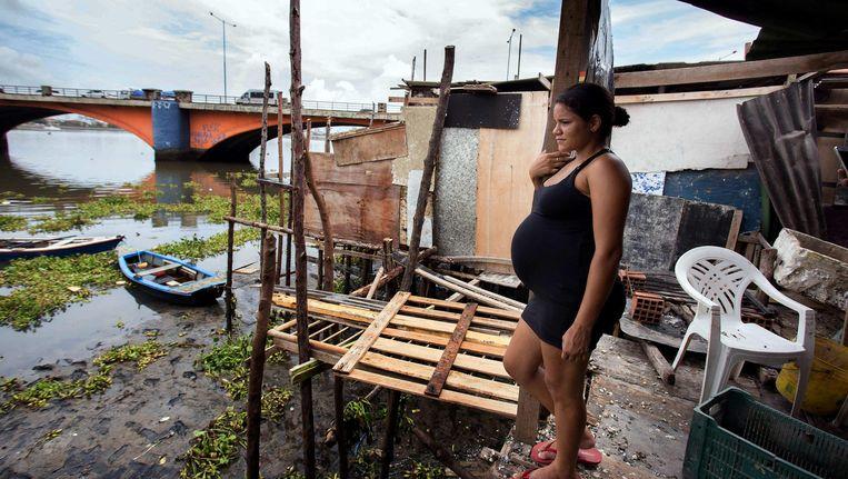 Een zwangere vrouw in Recife, Brazilië. Beeld epa
