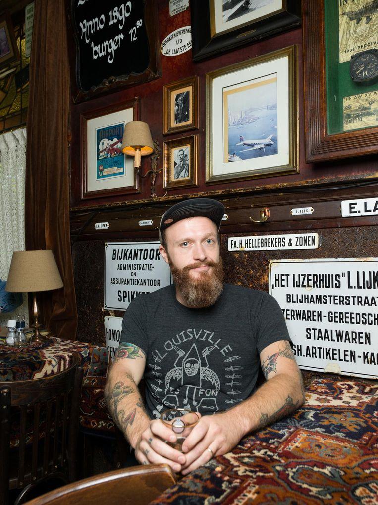 Leadzanger van de band Quiet Hollers Shadwick Wilde Beeld Ivo van der Bent
