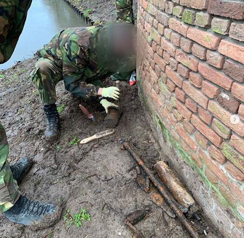 De gevonden granaat in Den Bosch.