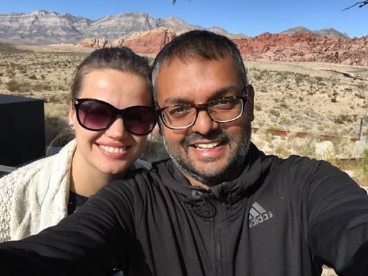 Ajay en zijn vrouw.