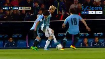 Messi pakte uit met héérlijke panna tegen Uruguay, maar mist duel tegen Venezuela